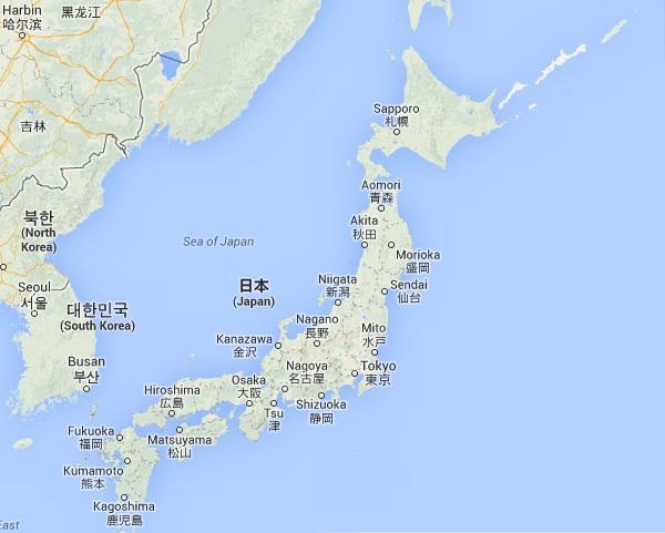 Japonia - mapa