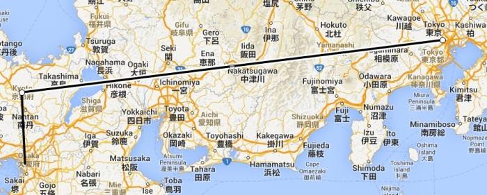 Japonia - trasa