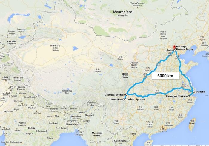 CHINY-mapa